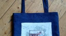 Jeanstasche gemustert