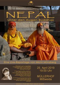 Nepal: Unter den Augen Buddhas: Eine Live-Reportage @ Müllerhof e.V. Mittweida